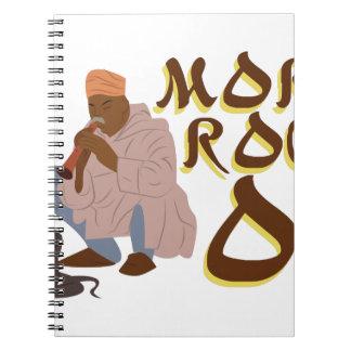 Marokko-Schlangenbeschwörer Spiral Notizblock