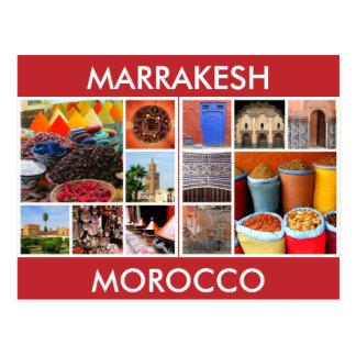 Marokko-Szenen Marrakesch Postkarte
