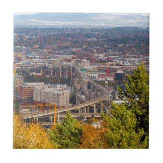 Marquam Brücke in Portland ODER in der Fall-Szene Keramikfliese