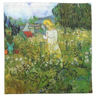 Marquerite Gachet im Garten, Vincent van Gogh. Serviette