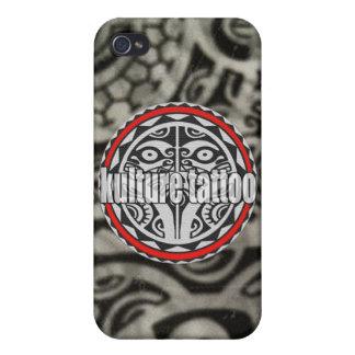 Marquesas Art Kulture Tätowierungs-Speckkasten iPhone 4 Cover