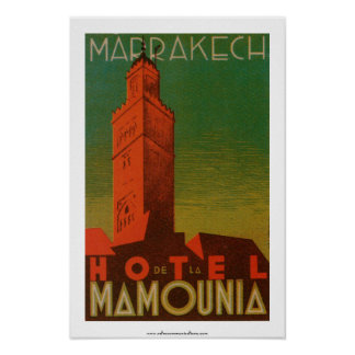 Marrakesch Hotel de la Mamounia Posterdrucke