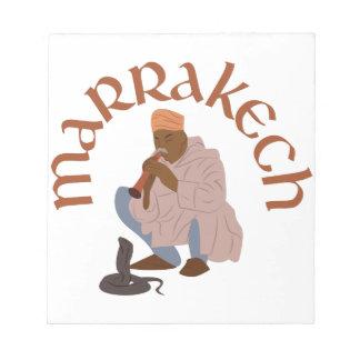 Marrakesch-Schlangenbeschwörer Notizblock