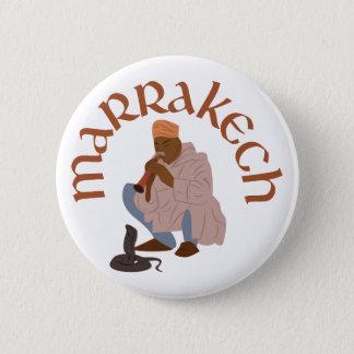 Marrakesch-Schlangenbeschwörer Runder Button 5,7 Cm