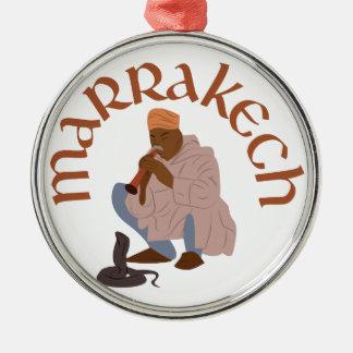 Marrakesch-Schlangenbeschwörer Rundes Silberfarbenes Ornament