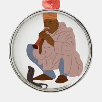 Marrakesch-Schlangenbeschwörer Silbernes Ornament
