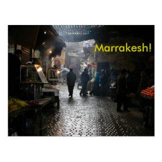 Marrakesch souk in Marokko Postkarte