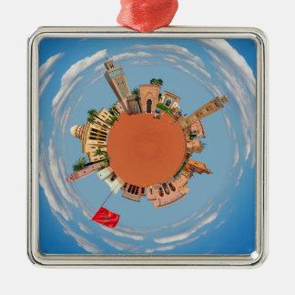 Marrakesch wenig Planetenmarokko-Reisetourismus Silbernes Ornament