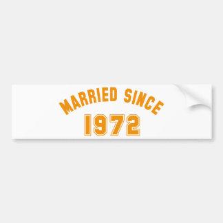married 1972 autoaufkleber