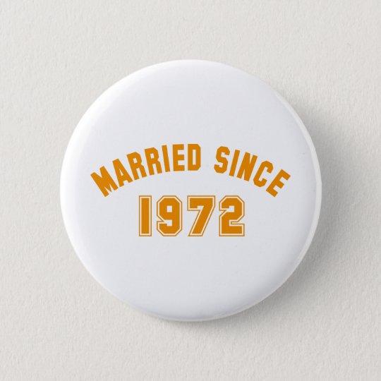 married 1972 runder button 5,7 cm