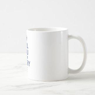 MarryMe Blau auf Weiß Kaffeetasse