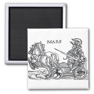 Mars Ares Gott Kriegdes griechischen römischen Quadratischer Magnet
