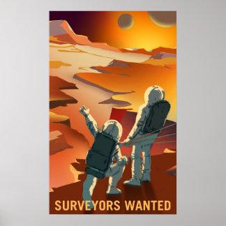 Mars-Einstellung - Feldmesser wollten Plakat