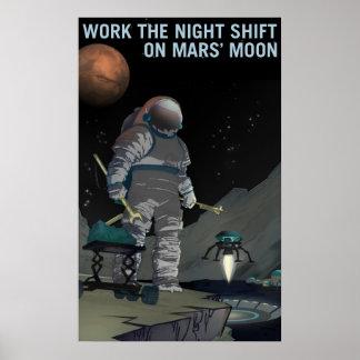 Mars-Einstellung - Nachtschicht-Plakat Poster