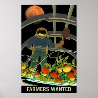 Mars-Forscher - Bauern wollten Plakat