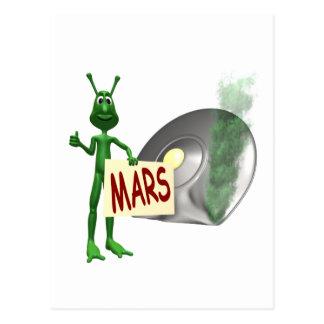 Mars oder Fehlschlag! Postkarte