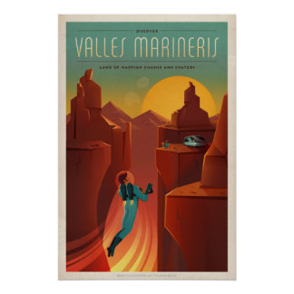 Mars Valles Marineris Tourismus Poster