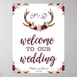 Marsala Blumengeweih-Willkommen zu unserem Poster