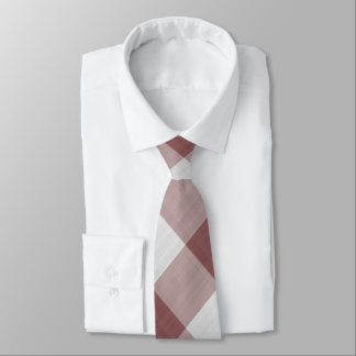 Marsala Gingham-Karo - diagonales Muster Krawatte