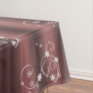 Marsala und weißes Wirbels-Weihnachten Tischdecke