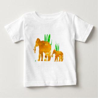 Marschierende Elefanten Browns Baby T-shirt