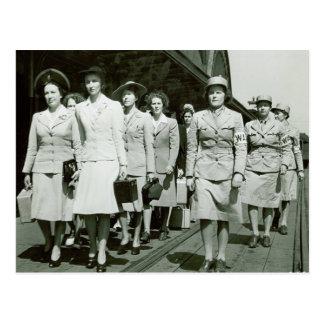 Marschierende WAAF Neuzugänge 1942 Postkarte