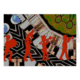 Marschierendes Band abstrakt Karte