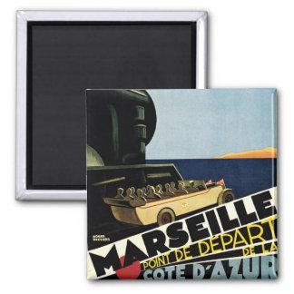 Marseille ~ Cote d'Azur Quadratischer Magnet