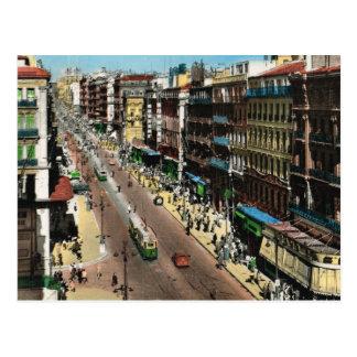 Marseille, verkehrsreiche Straße mit Trams Postkarte
