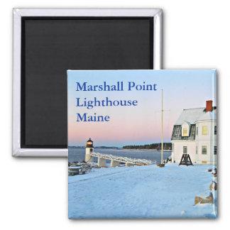 Marshall-Punkt-Leuchtturm, Hafen Clyde Maine Quadratischer Magnet