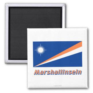 Marshallinseln Flagge MIT Namen Kühlschrankmagnet