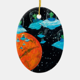 Marsmenschen sind verärgert keramik ornament