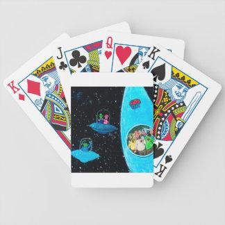 Marsmenschen und Kühe Bicycle Spielkarten