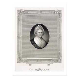 Martha Washington, graviert von James Barton Postkarte