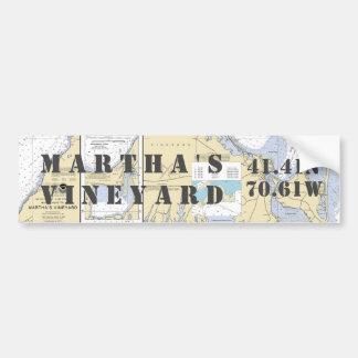 Martha's Vineyard-Breite-Länge-Navigation Autoaufkleber