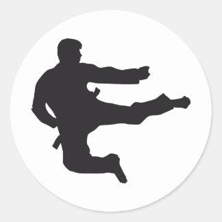 martial arts runder aufkleber
