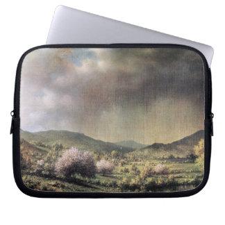Martin Johnson Heade - Frühlingsregen das Tal von  Laptop Sleeve Schutzhülle