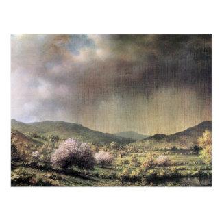 Martin Johnson Heade - Frühlingsregen das Tal von Postkarten