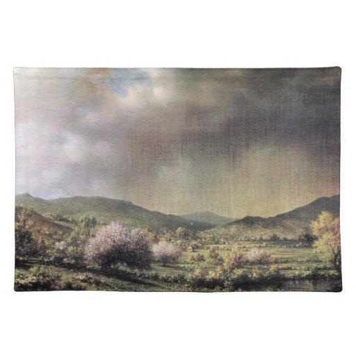 Martin Johnson Heade - Frühlingsregen das Tal von  Tisch Sets