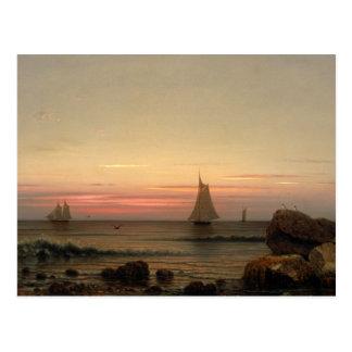 Martin Johnson Heade - segelnd vor der Küste Postkarte