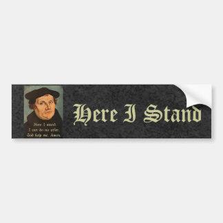 Martin Luther - hier stehe ich Zitat Autoaufkleber