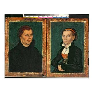 Martin Luther, Katharina von Bora, c.1526 Postkarte