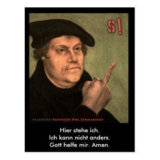 "Martin Luther ""StinkeFinger"" Postkarte"