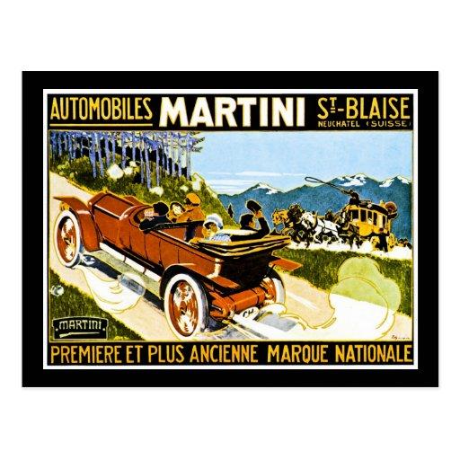Martini-Automobil-St. Blaise Postkarten