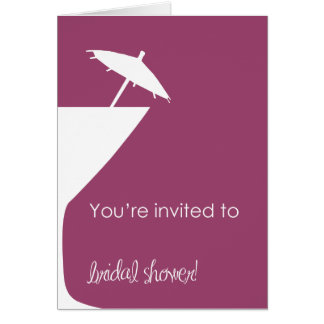 Martini-Brautparty-Einladung Karte