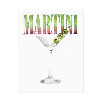 Martini-Cocktail-Wand-Kunst Leinwand Drucke