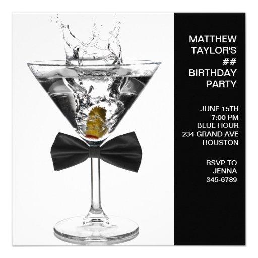 Martini-Glas bemannt jedes mögliches Personalisierte Ankündigungskarten