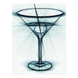Martini-Glas-Skizze Postkarten