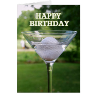 Martini-Golfball-alles- Gute zum Geburtstagkarte Grußkarte