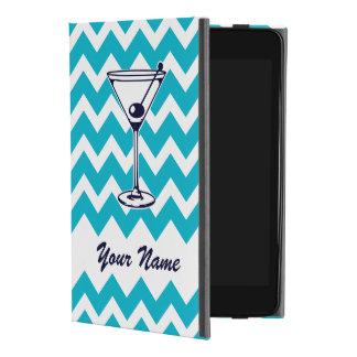 Martini-Piktogramm mit blauem Zickzack Muster iPad Mini 4 Hülle